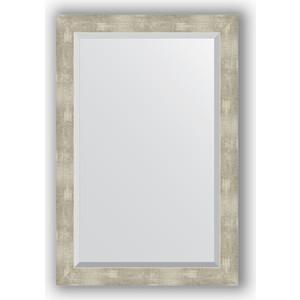Зеркало с фацетом в багетной раме поворотное Evoform Exclusive 61x91 см, алюминий 61 мм (BY 1179) зеркало с фацетом в багетной раме поворотное evoform exclusive 61x91 см палисандр 62 мм by 1174