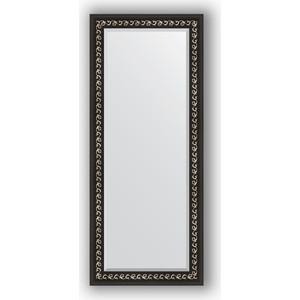 Зеркало с фацетом в багетной раме поворотное Evoform Exclusive 65x155 см, черный ардеко 81 мм (BY 1185)