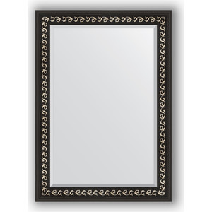 Зеркало с фацетом в багетной раме поворотное Evoform Exclusive 75x105 см, черный ардеко 81 мм (BY 1195) косметика ардеко