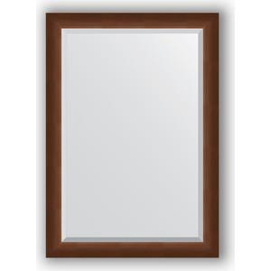 Зеркало с фацетом в багетной раме поворотное Evoform Exclusive 72x102 см, орех 65 мм (BY 1197)