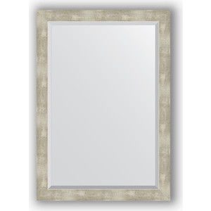 Зеркало с фацетом в багетной раме поворотное Evoform Exclusive 71x101 см, алюминий 61 мм (BY 1199) зеркало с фацетом в багетной раме поворотное evoform exclusive 71x101 см палисандр 62 мм by 1194