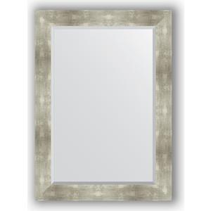 купить Зеркало с фацетом в багетной раме поворотное Evoform Exclusive 76x106 см, алюминий 90 мм (BY 1200) онлайн