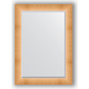 Зеркало с фацетом в багетной раме поворотное Evoform Exclusive 76x106 см, травленое золото 87 мм (BY 1201) зеркало с фацетом в багетной раме evoform exclusive 46x56 см травленое золото 87 мм by 1363