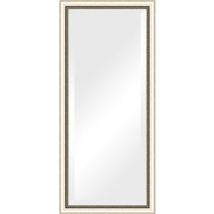 Зеркало с фацетом в багетной раме поворотное Evoform Exclusive 73x163 см, состаренное серебро плетением 70 мм (BY 1202)