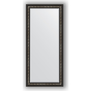 Зеркало с фацетом в багетной раме поворотное Evoform Exclusive 75x165 см, черный ардеко 81 мм (BY 1205)