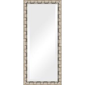 Зеркало с фацетом в багетной раме поворотное Evoform Exclusive 73x163 см, серебрянный бамбук 73 мм (BY 1206)