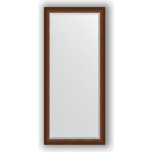 Зеркало с фацетом в багетной раме поворотное Evoform Exclusive 72x162 см, орех 65 мм (BY 1207) цены