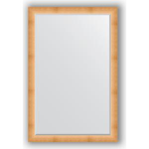 Зеркало с фацетом в багетной раме поворотное Evoform Exclusive 116x176 см, травленое золото 87 мм (BY 1221)