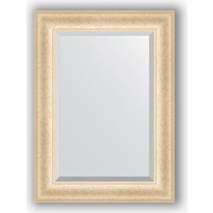 Зеркало с фацетом в багетной раме поворотное Evoform Exclusive 55x75 см, старый гипс 82 мм (BY 1222)