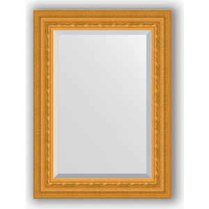 Зеркало с фацетом в багетной раме поворотное Evoform Exclusive 55x75 см, сусальное золото 80 мм (BY 1224) зеркало с гравировкой поворотное evoform exclusive g 130x184 см в багетной раме сусальное золото 80 мм by 4482