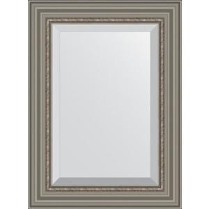 Зеркало с фацетом в багетной раме поворотное Evoform Exclusive 56x76 см, римское серебро 88 мм (BY 1227) зеркало evoform exclusive g 186х131 римское серебро