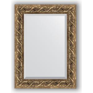 Зеркало с фацетом в багетной раме поворотное Evoform Exclusive 56x76 см, фреска 84 мм (BY 1229)