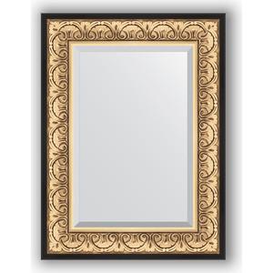 Зеркало с фацетом в багетной раме поворотное Evoform Exclusive 60x80 см, барокко золото 106 мм (BY 1231)