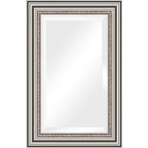 Зеркало с фацетом в багетной раме поворотное Evoform Exclusive 56x86 см, римское серебро 88 мм (BY 1237) цены