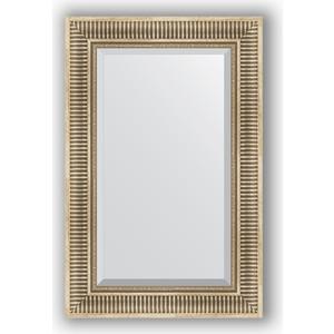 Зеркало с фацетом в багетной раме поворотное Evoform Exclusive 57x87 см, серебряный акведук 93 мм (BY 1238)
