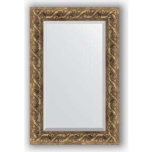 Зеркало с фацетом в багетной раме поворотное Evoform Exclusive 56x86 см, фреска 84 мм (BY 1239) цены