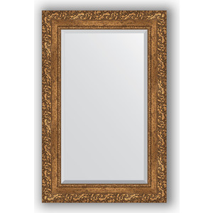 Зеркало с фацетом в багетной раме поворотное Evoform Exclusive 55x85 см, виньетка бронзовая 85 мм (BY 1240) зеркало с фацетом в багетной раме поворотное evoform exclusive 80x170 см виньетка серебро 109 мм by 3608