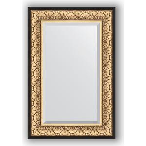 Зеркало с фацетом в багетной раме поворотное Evoform Exclusive 60x90 см, барокко золото 106 мм (BY 1241) зеркало с фацетом в багетной раме поворотное evoform exclusive 65x150 см барокко серебро 106 мм by 3554