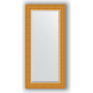 Зеркало с фацетом в багетной раме поворотное Evoform Exclusive 55x115 см, сусальное золото 80 мм (BY 1244)