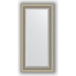 Зеркало с фацетом в багетной раме поворотное Evoform Exclusive 56x116 см, хамелеон 88 мм (BY 1245) цены