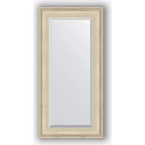 Зеркало с фацетом в багетной раме поворотное Evoform Exclusive 58x118 см, травленое серебро 95 мм (BY 1246)