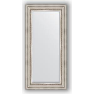 Зеркало с фацетом в багетной раме поворотное Evoform Exclusive 56x116 см, римское серебро 88 мм (BY 1247) уорнер элла римское лето роман