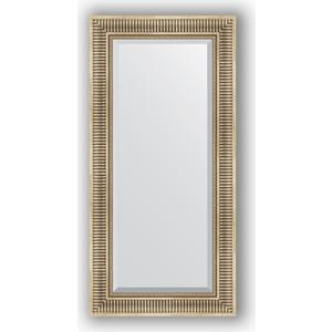 Зеркало с фацетом в багетной раме поворотное Evoform Exclusive 57x117 см, серебряный акведук 93 мм (BY 1248) фото