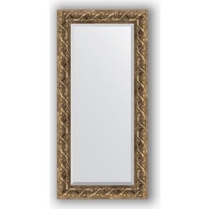 Зеркало с фацетом в багетной раме поворотное Evoform Exclusive 56x116 см, фреска 84 мм (BY 1249)