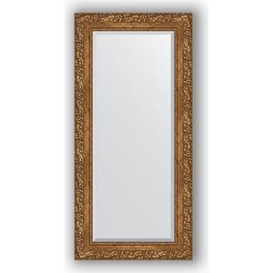 Зеркало с фацетом в багетной раме поворотное Evoform Exclusive 55x115 см, виньетка бронзовая 85 мм (BY 1250)