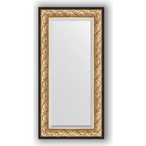 Зеркало с фацетом в багетной раме поворотное Evoform Exclusive 60x120 см, барокко золото 106 мм (BY 1251) зеркало с фацетом в багетной раме поворотное evoform exclusive 65x150 см барокко серебро 106 мм by 3554