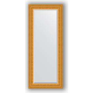 Зеркало с фацетом в багетной раме поворотное Evoform Exclusive 55x135 см, сусальное золото 80 мм (BY 1254)
