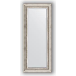 Зеркало с фацетом в багетной раме поворотное Evoform Exclusive 56x136 см, римское серебро 88 мм (BY 1257) зеркало evoform exclusive 166х76 римское серебро