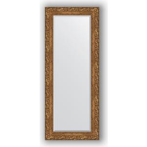 Зеркало с фацетом в багетной раме поворотное Evoform Exclusive 55x135 см, виньетка бронзовая 85 мм (BY 1260)