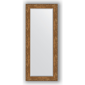 Зеркало с фацетом в багетной раме поворотное Evoform Exclusive 60x145 см, виньетка бронзовая 85 мм (BY 1270) зеркало с фацетом в багетной раме поворотное evoform exclusive 80x170 см виньетка серебро 109 мм by 3608
