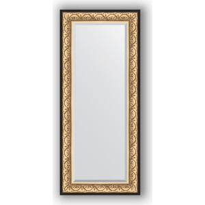 Зеркало с фацетом в багетной раме поворотное Evoform Exclusive 65x150 см, барокко золото 106 мм (BY 1271)