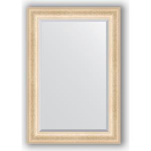 Зеркало с фацетом в багетной раме поворотное Evoform Exclusive 65x95 см, старый гипс 82 мм (BY 1272)