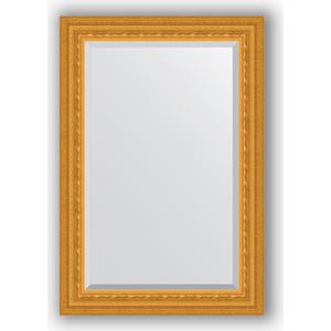 Зеркало с фацетом в багетной раме поворотное Evoform Exclusive 65x95 см, сусальное золото 80 мм (BY 1274)