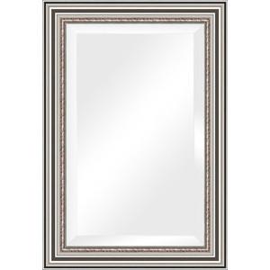 Зеркало с фацетом в багетной раме поворотное Evoform Exclusive 66x96 см, римское серебро 88 мм (BY 1277)