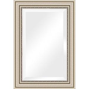 Зеркало с фацетом в багетной раме поворотное Evoform Exclusive 67x97 см, серебряный акведук 93 мм (BY 1278) зеркало с фацетом в багетной раме поворотное evoform exclusive 67x157 см серебряный акведук 93 мм by 1288