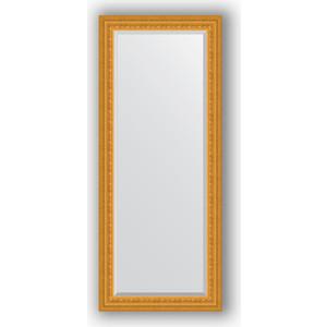Зеркало с фацетом в багетной раме поворотное Evoform Exclusive 65x155 см, сусальное золото 80 мм (BY 1284)