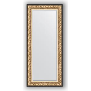 Зеркало с фацетом в багетной раме поворотное Evoform Exclusive 70x160 см, барокко золото 106 мм (BY 1291) зеркало с фацетом в багетной раме поворотное evoform exclusive 65x150 см барокко серебро 106 мм by 3554