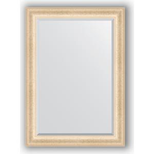 Зеркало с фацетом в багетной раме поворотное Evoform Exclusive 75x105 см, старый гипс 82 мм (BY 1292)