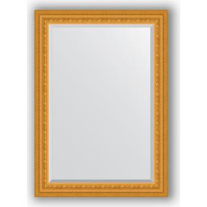 Зеркало с фацетом в багетной раме поворотное Evoform Exclusive 75x105 см, сусальное золото 80 мм (BY 1294)