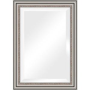 Зеркало с фацетом в багетной раме поворотное Evoform Exclusive 76x106 см, римское серебро 88 мм (BY 1297) зеркало evoform exclusive g 186х131 римское серебро