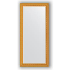 Зеркало с фацетом в багетной раме поворотное Evoform Exclusive 75x165 см, сусальное золото 80 мм (BY 1304)