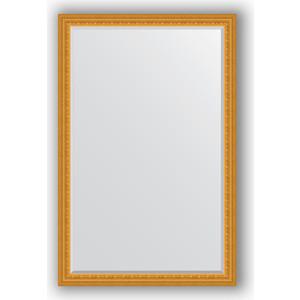 Зеркало с фацетом в багетной раме поворотное Evoform Exclusive 115x175 см, сусальное золото 80 мм (BY 1314)