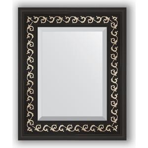 Зеркало с фацетом в багетной раме Evoform Exclusive 45x55 см, черный ардеко 81 мм (BY 1357) косметика ардеко