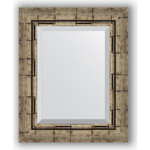 Зеркало с фацетом в багетной раме Evoform Exclusive 43x53 см, серебрянный бамбук 73 мм (BY 1358)