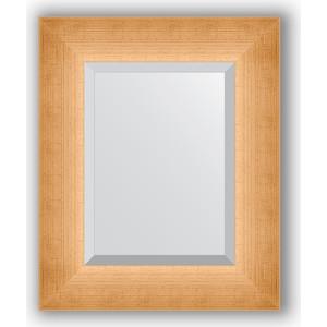 Зеркало с фацетом в багетной раме Evoform Exclusive 46x56 см, травленое золото 87 мм (BY 1363) зеркало с фацетом в багетной раме evoform exclusive 46x56 см травленое золото 87 мм by 1363
