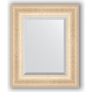 Зеркало с фацетом в багетной раме Evoform Exclusive 45x55 см, старый гипс 82 мм (BY 1364) зеркало evoform exclusive g floor 200х110 старый гипс